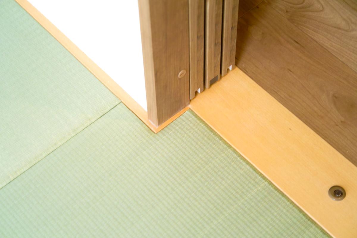 縁なし畳(琉球畳)に切り込みカギ