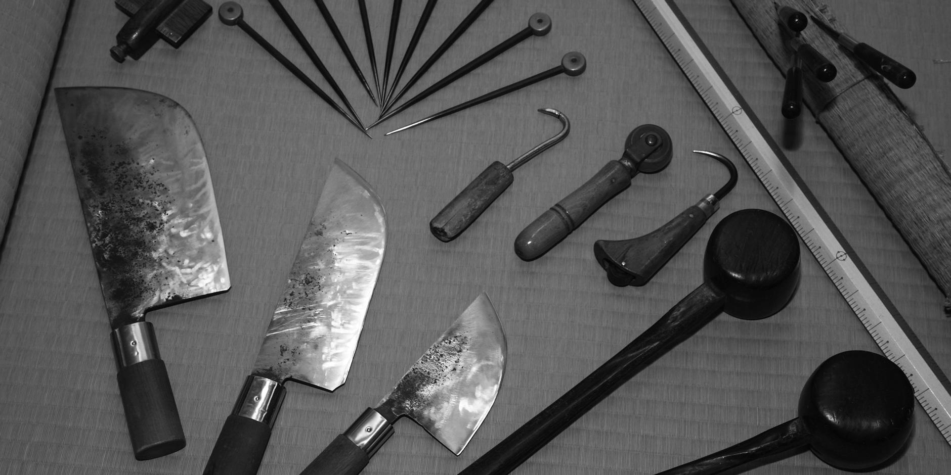 畳をつくる道具たち
